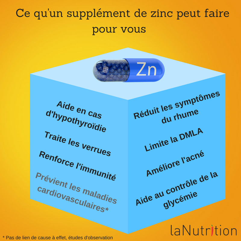 le zinc pour le corps